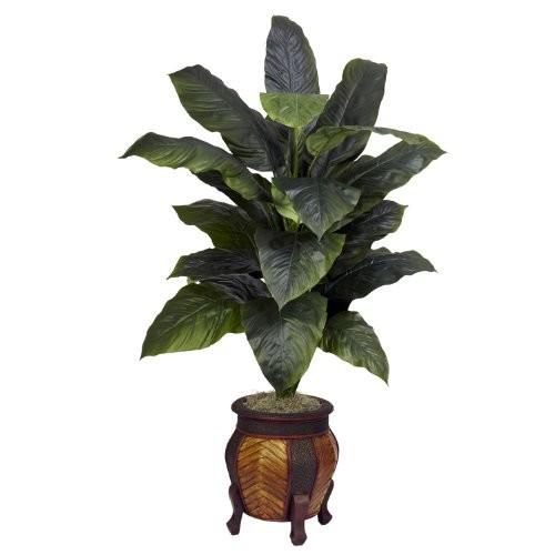 Nearly Natural Giant Spathyfillum W/Decorative Vase Silk Plant