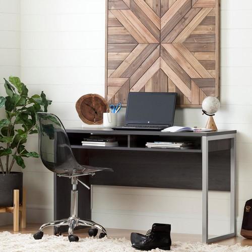 South Shore Interface Desk in Gray Oak
