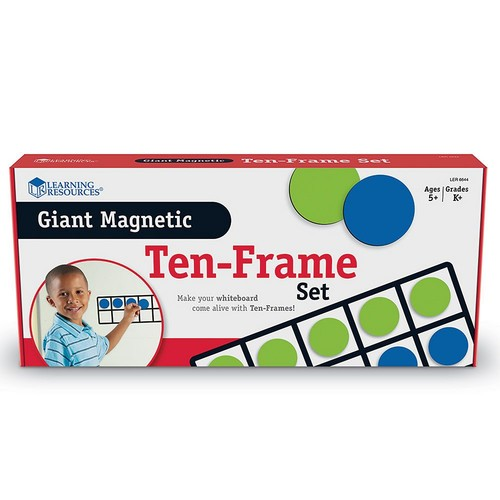 Learning Resources Giant Magnetic Ten-Frame Set, Set of 4