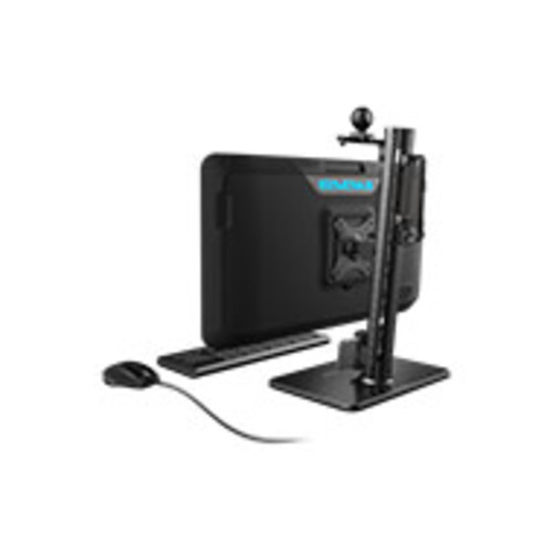 Rail System Weighted Monitor Stand