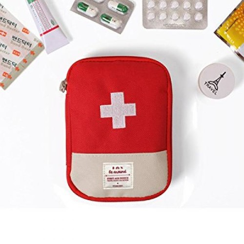 Fashion Gallery Portable Medical Bag Emergency Survival First Aid Kit Bag Home Travel Camping Convenience (Blue) (Red)