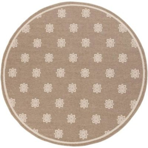 Artistic Weavers Baxter Taupe 5 ft. 3 in. x 5 ft. 3 in. Round Indoor/Outdoor Area Rug
