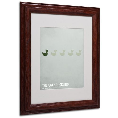 The Ugly Duckling Artwork by Christian Jackson in Wood Frame, 11 by 14-Inch [11 by 14-Inch]