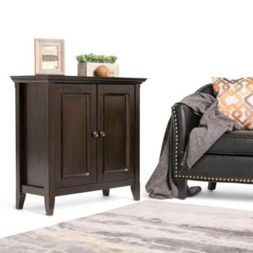 Simpli Home Amherst Dark Brown Storage Cabinet