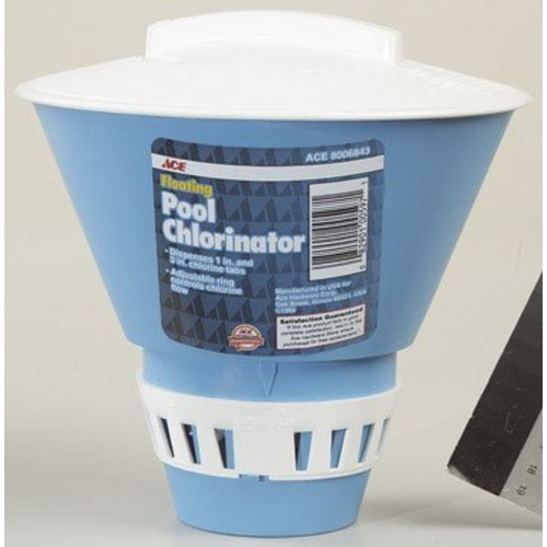 Floating Pool and Spa Chlorinator and Thermometer Combo