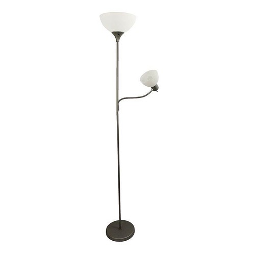 Simple Designs Floor Lamp with Reading Light