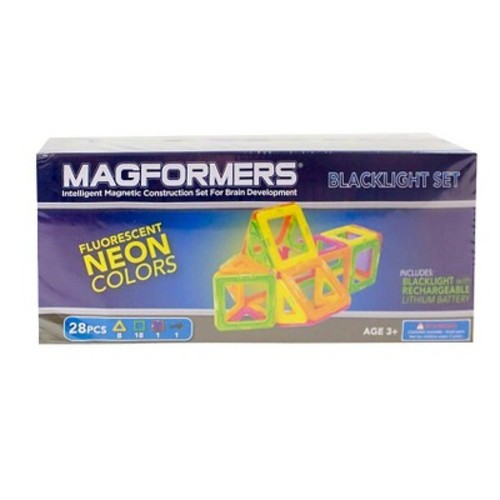 Magformers Neon 28 PC Blacklight Set