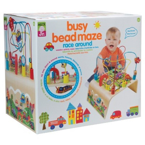 ALEX Toys ALEX Jr. Busy Bead Maze Race Around Wooden Activity Center