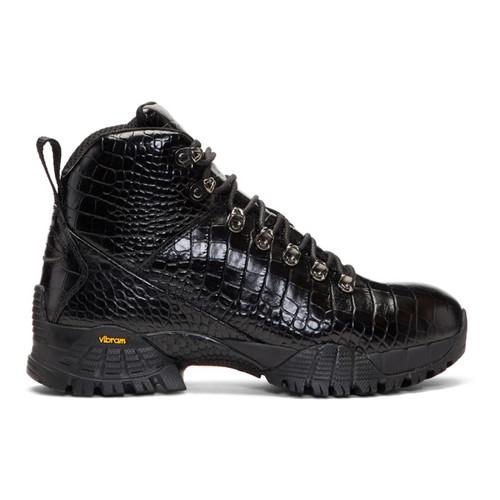 Black Croc Hiking Boots