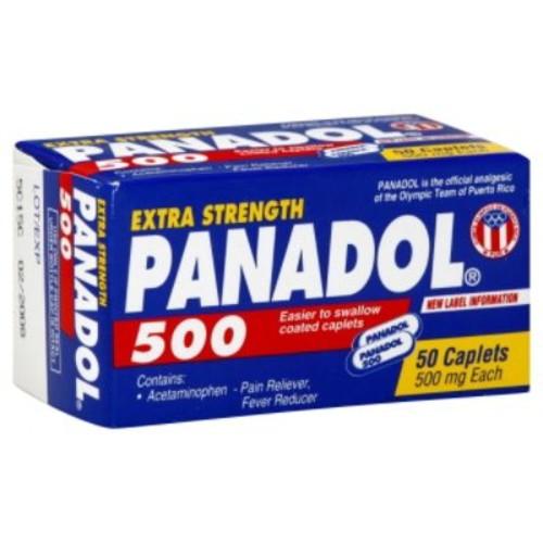 Panadol 500 Pain Reliever/Fever Reducer, Extra Strength, 500 mg, Caplets, 50 caplets