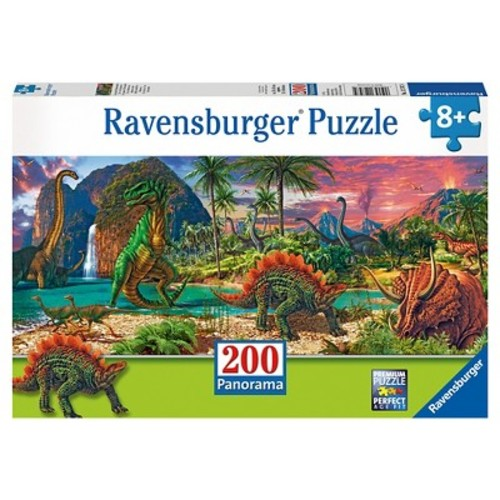 In the Land of the Dinosaurs 200pc Panorama Puzzle
