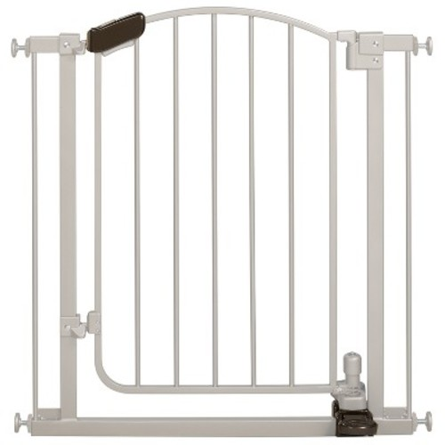 Summer Infant Walk Thru Step-to-Open Baby Gate (Silver)