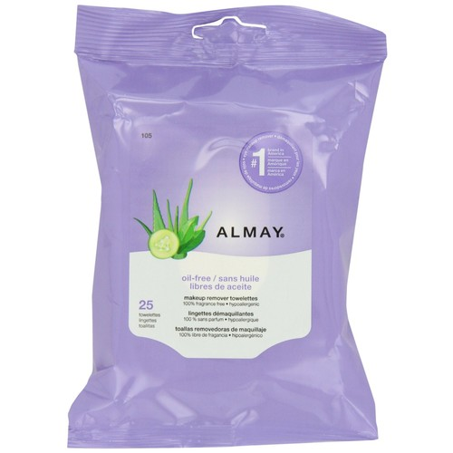 Almay Makeup Remover Towelettes, Oil-Free, 25 towelettes