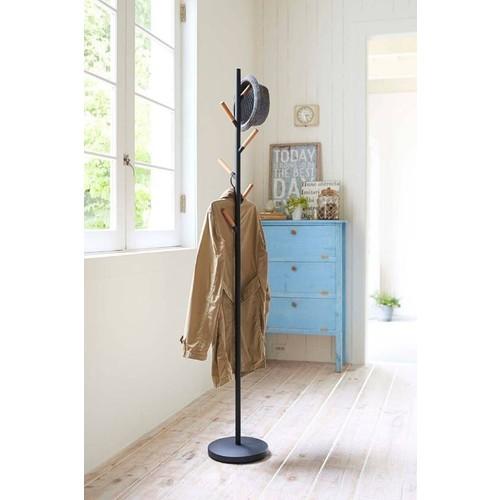 Plain Coat Hanger design by Yamazaki - Black [Title : Black]