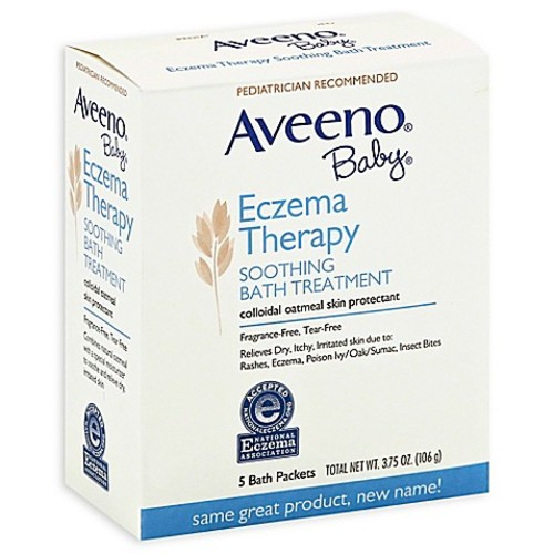 Aveeno Baby 5-Count Eczema Therapy Soothing Bath Packs