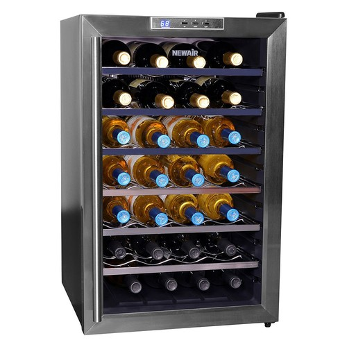 Air AW-281E 28 Bottle Thermoelectric Wine Cooler [Black]