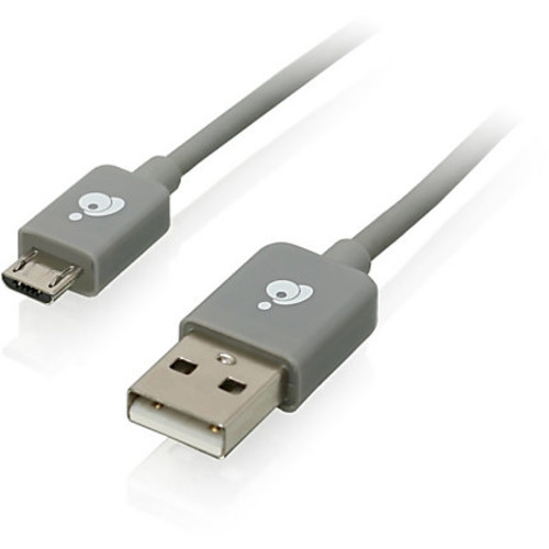 IOGEAR Charge & Sync USB To Micro USB Cable, Space Gray, 9.8', VM2863