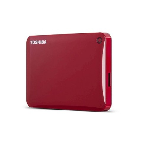 Toshiba Canvio Connect II 2TB Portable Hard Drive, Red (HDTC820XR3C1)