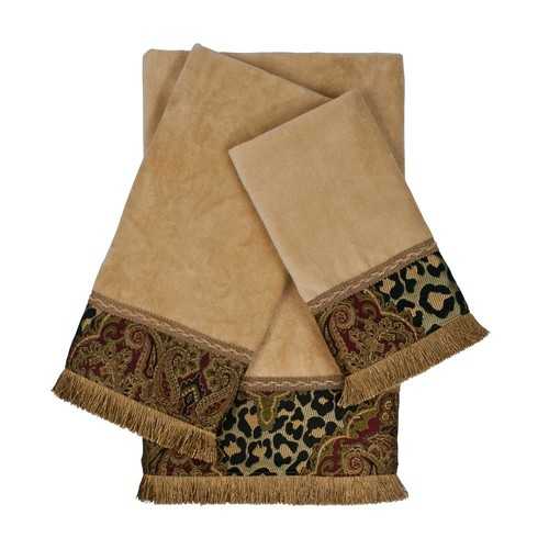 Austin Horn Collection Tangiers Nugget Decorative Embellished Towel Set (3-Piece)