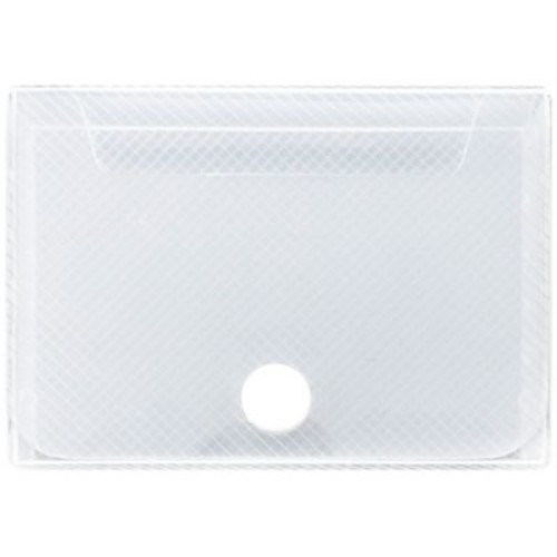 JAM Paper Large Business Card Holder, 2.25 x 3.25 x 1, Clear, Sold Individually (245232763)