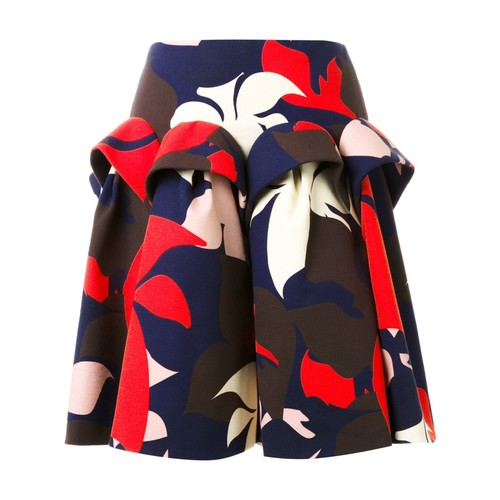 DELPOZO Floral Print Skirt