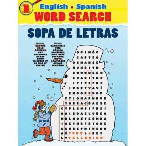 English/Spanish Word Search/Sopa De Letras 1 (Paperback)