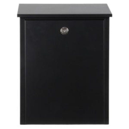 QualArc Black Wall-Mount Locking Mailbox