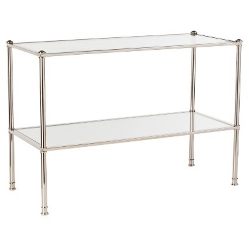 Stephens Console Table - Metallic silver - Southern Enterprise