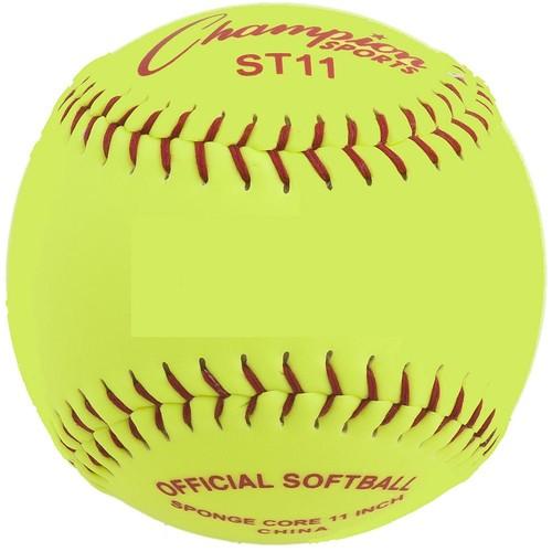 Champion Sports Safety Softball [Yellow, 11-Inch]