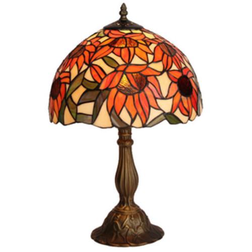 Amora Lighting Tiffany Style Sunflower Table Lamp