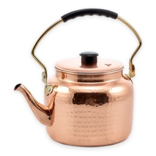 Dutch International 2-Quart Hammered Copper Tea Kettle
