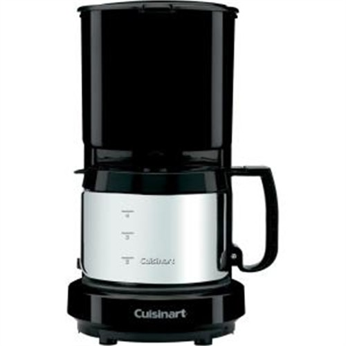 Cuisinart - 4-Cup Coffeemaker with Brushed Stainless Carafe - Black