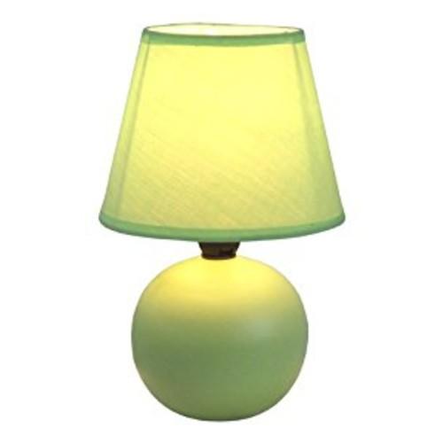 Simple Designs LT2008-GRN Mini Ceramic Globe Table Lamp, Green [Green]