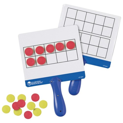 Learning Resources Magnetic 10-Frame Answer Write-And-Wipe Board Set, Assorted Colors, Grades K - 9