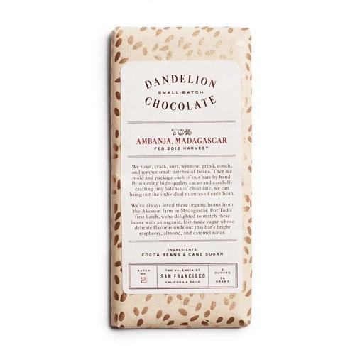Dandelion Chocolate Madagascar Bar