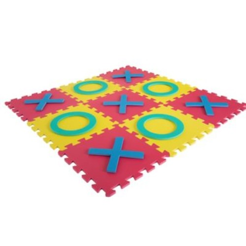 Trademark Games Interlocking Foam Square Tic-Tac-Toe Game