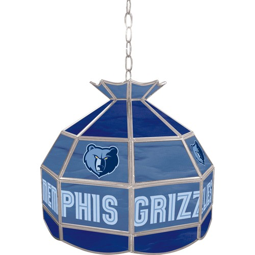 NBA(CANONICAL) Memphis Grizzlies 16 inch Stained Glass Tiffany Style Lamp