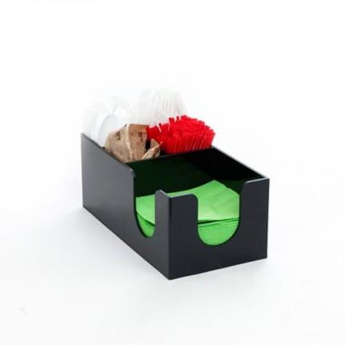 Mind Reader Acrylic 5 Compartment Condiment Organizer, Black