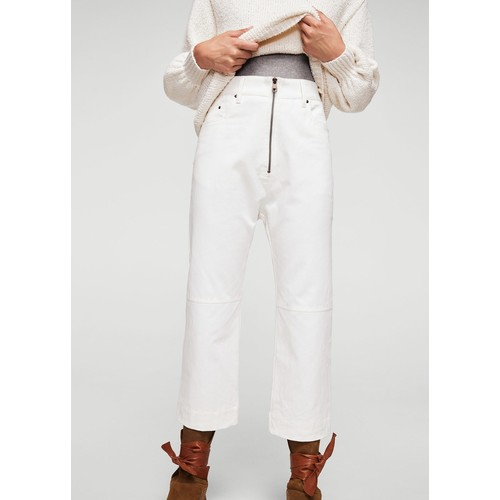 Zipped organic cotton jeans