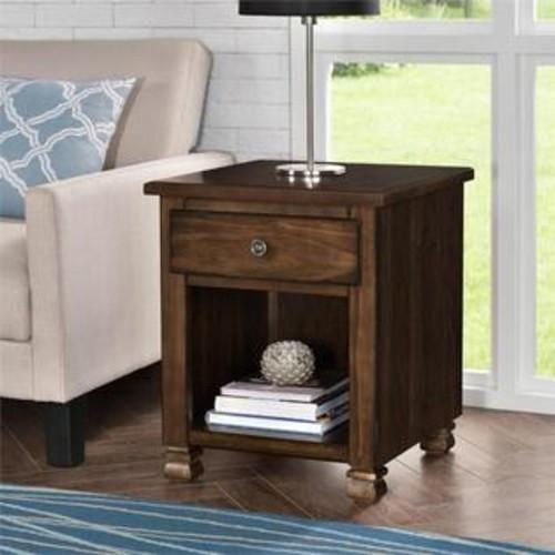 Ameriwood 3608196COM San Antonio Wood Veneer End Table, Espresso