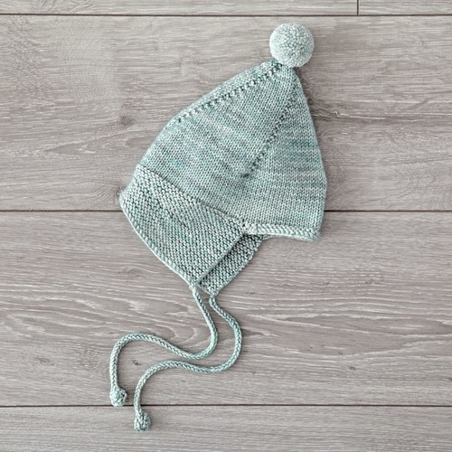 Misha and Puff Light Green 0-6 Months Knit Hat