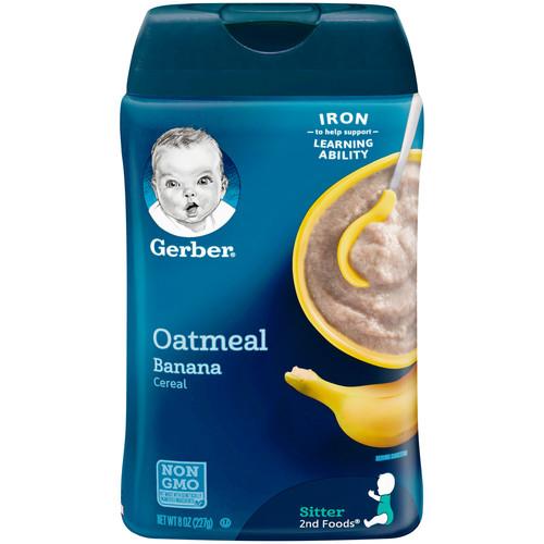 Gerber Oatmeal and Banana Baby Cereal, 8 oz