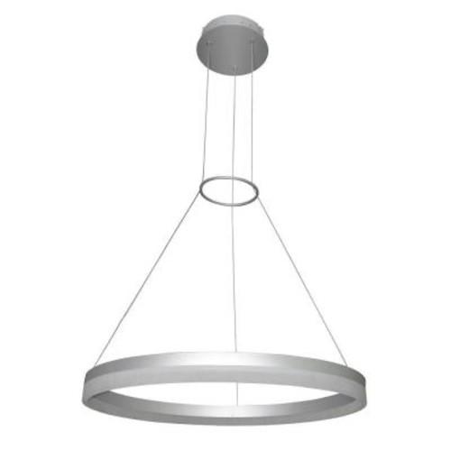 VONN Lighting Tania Collection 37-Watt Silver Integrated LED Adjustable Hanging Modern Circular Chandelier 24 in.