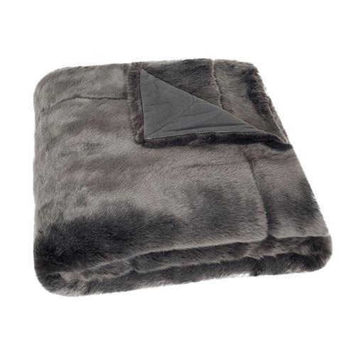 Safavieh Silver Fox Faux Fur Throw