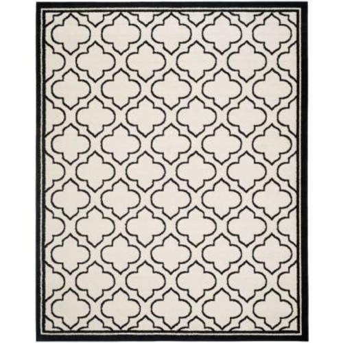Safavieh Amherst Ivory/Anthracite 8 ft. x 10 ft. Indoor/Outdoor Area Rug