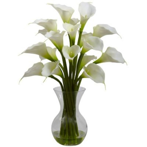 Nearly Natural 1299 Galla Calla Lily with Vase Floral Arrangements