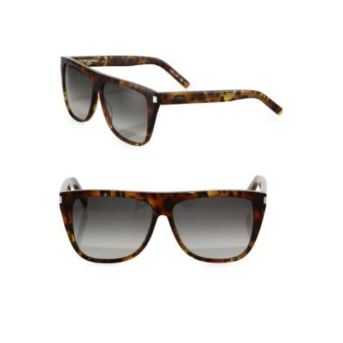 SAINT LAURENT Sl 1 59Mm Leopard-Print Flat-Top Sunglasses