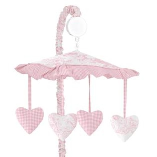 Sweet Jojo Designs French Toile Collection Pink Musical Mobile