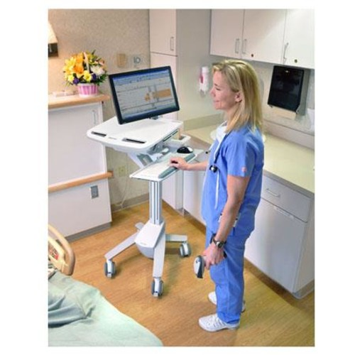 Ergotron StyleView - EMR Cart with LCD Arm - Cart for LCD display / keyboard / mouse / bar code scanner / CPU