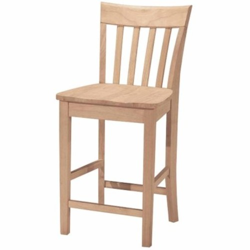 International Concepts S-3012 Slatback Stool, 24